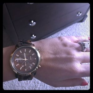 NWT! Michael Kors tortoise watch!