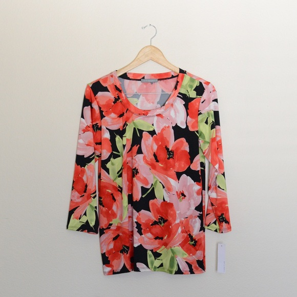 2690f7b95b67 Loveappella Tops | Floral Soft Blouse By Loveapella Nwt | Poshmark