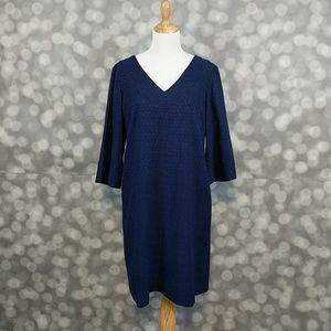 Donna Morgan Dresses & Skirts - Donna Morgan Navy Eyelet Tunic Dress