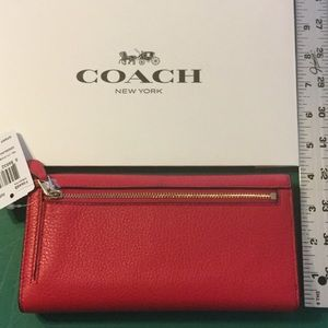Coach Bags - Coach Pebble Leather Checkbook Wallet