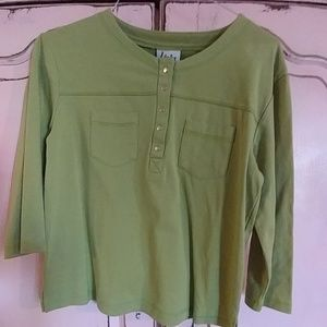 Link Tops - LINKS: Chartreuse, shirt perfect for Spring