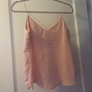 H&M Tops - h&m divided pink cami - size 8
