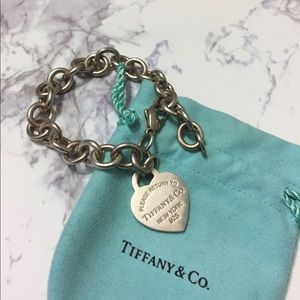 Tiffany & Co. Jewelry - Tiffany & Co. Heart Charm Bracelet Sterling Silver