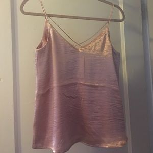 h&m shimmery cami - size 6