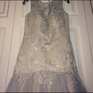 Camilla Dresses & Skirts - Beautiful Silver and Blue Prom Dress