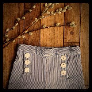 Hartstrings Other - Hartstrings blue & white seersucker sailor pants