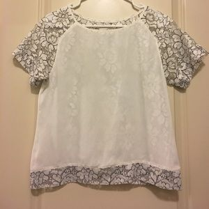 Greylin Tops - Greylin White Lace Top