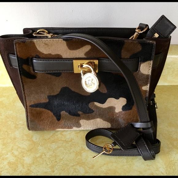 93beda2086ec4f Michael Kors Hamilton Camo Calf Hair Leather Bag. M_58e17915f09282bdb802d5d1