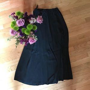Long Black Eileen Fisher Skirt - Size S