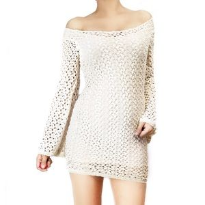 Free People Dresses & Skirts - Free people crochet dress with bell sleeves
