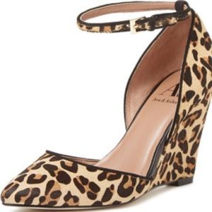 Ava & Aiden Shoes - Ava & Aiden Ashley D'Orsay Wedge in Leopard SZ 9