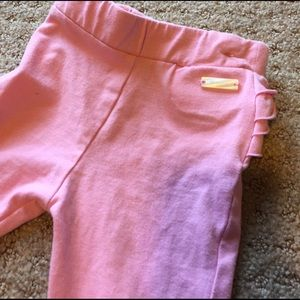Mayoral Other - Mayoral pink stretch pants with ruffle on the back