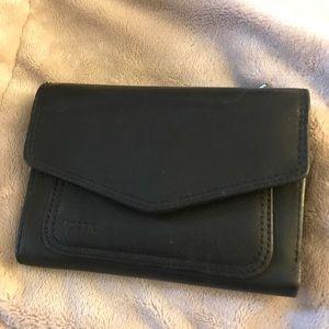 Fossil Handbags - Black Fossil Tri-fold Wallet