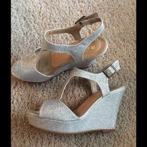 Rampage Shoes - Silver Platform Sandals by Rampage ON SALE