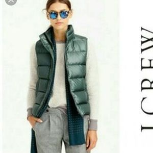J.Crew Green Puffer Vest