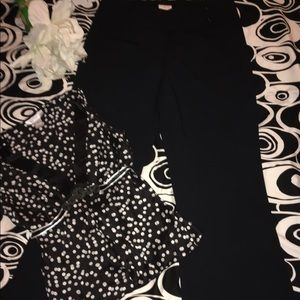 Tracy Reese Pants - 🌹NWT🌹TRACY REESE BLACK WOOL BLEND PANTS🌹8