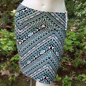 Charlotte Russe Dresses & Skirts - Printed Bodycon Mini Skirt