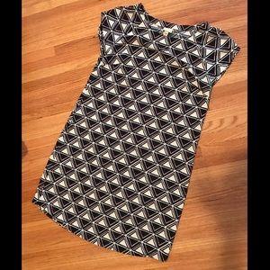Merona Mod-Print Cap Sleeve Dress -Size Medium