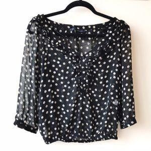 XS Zara Polka Dot Blouse