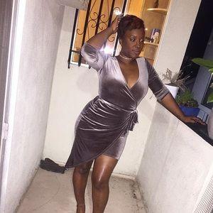 Dresses & Skirts - Velvet Wrap Dress