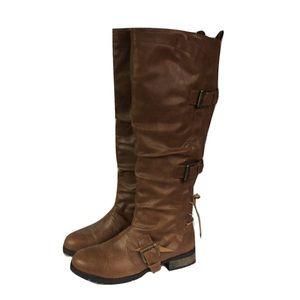 Sz 10 Wide Calf Brown Boots!