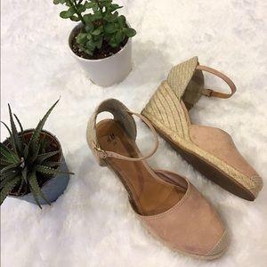 H&M Wedges, Pale Pink & Tan Heels