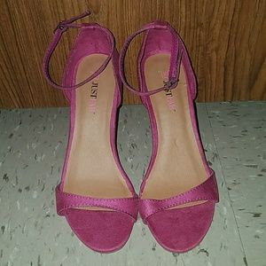 NEW JustFab pink wedges 6.5