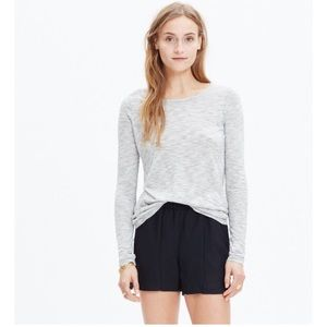 EUC Madewell Anthem Forward-seam Mini-Stripe Tee
