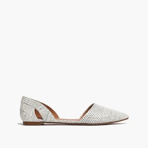 Madewell d'Orsay Flats in Snake Spot