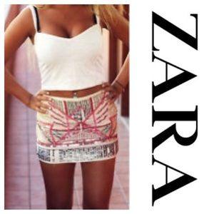 Zara Aztec beaded skirt
