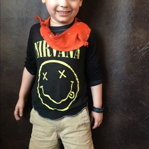 Kids orange leather scarf