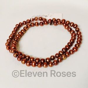 Other - Sterling Cultured Chocolate Pearl Strand Necklace