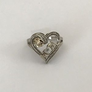 Vintage Jewelry - Diamond Accent Love Mom Ring