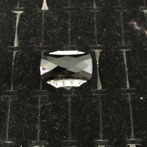 Fashion black silver rings