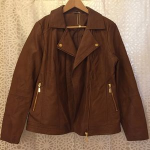 NWOT. Anthology Vegan Leather Jacket