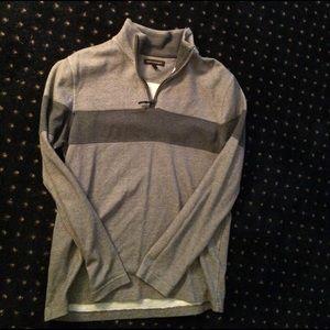 Gray 1/4 Zip Sweater - Banana Republic