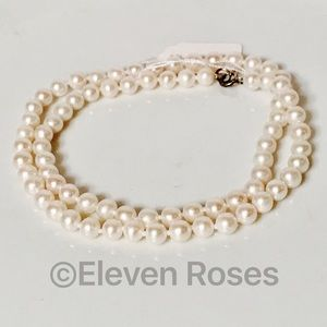 Other - Sterling Cultured White Pearl Strand Necklace