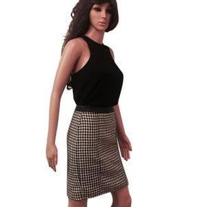 Black & White Checkered Professional Skirt