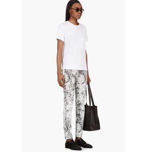McQ Alexander McQueen Denim - McQ Alexander McQueen Crackled Paint Skinny Jeans