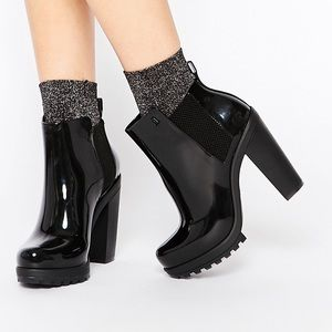 Melissa Shoes - New Melissa Soldier Black Heeled Boots 39/40