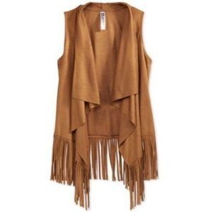 Kandy Kiss Tops - Like New Boho Chic Faux Suede Vest Festival Style