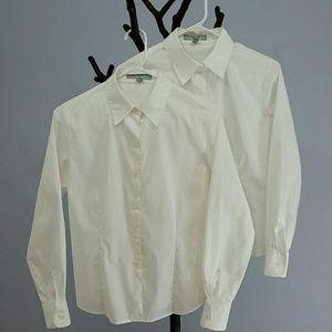 Foxcroft Tops - Bundle of 2 Non-Iron Button Down Shirts Sz 6P