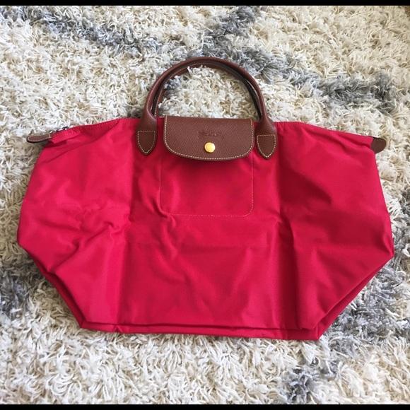 New Longchamp Garance red color medium bag 579159ea2bb7a