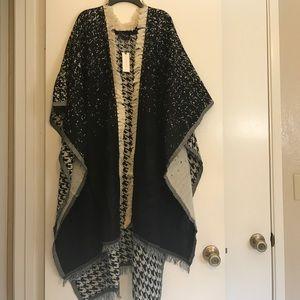 Anthropologie Jackets & Blazers - Anthropologie Saachi herringbone wrap/poncho