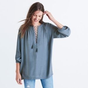 Madewell Tops - NWT Madewell lace front peasant top