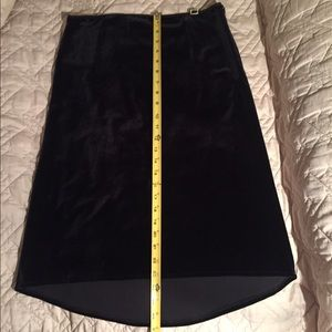 Motivi black velour skirt in like-new condition
