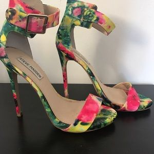 Steve Madden Floral high heel sandals