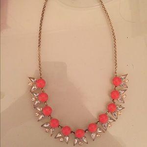 J crew coral statement necklace