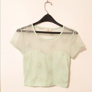 Final Sale! Urban Outfitters Mint Crop Top