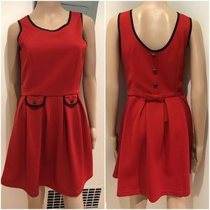 EUC ASOS Yumi Fit & Flare Bow dress